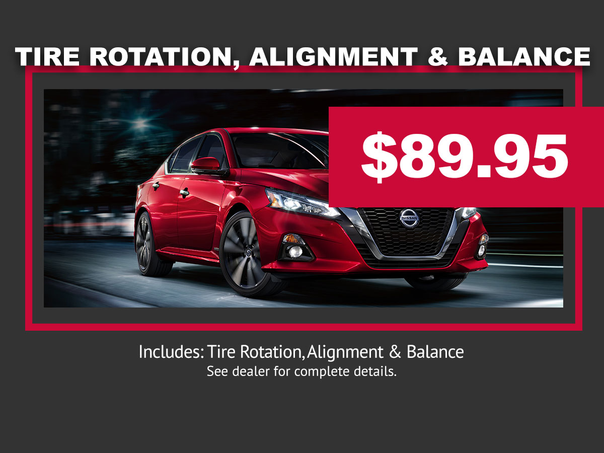 Alignment Tire Rotation and Balance Service Special Coupon