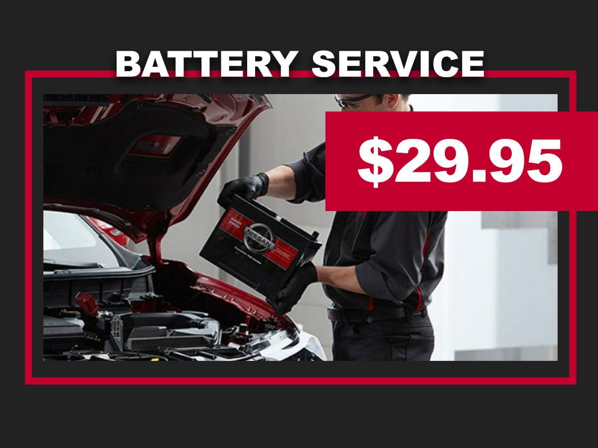 Nissan Battery Replacement Service Coupon