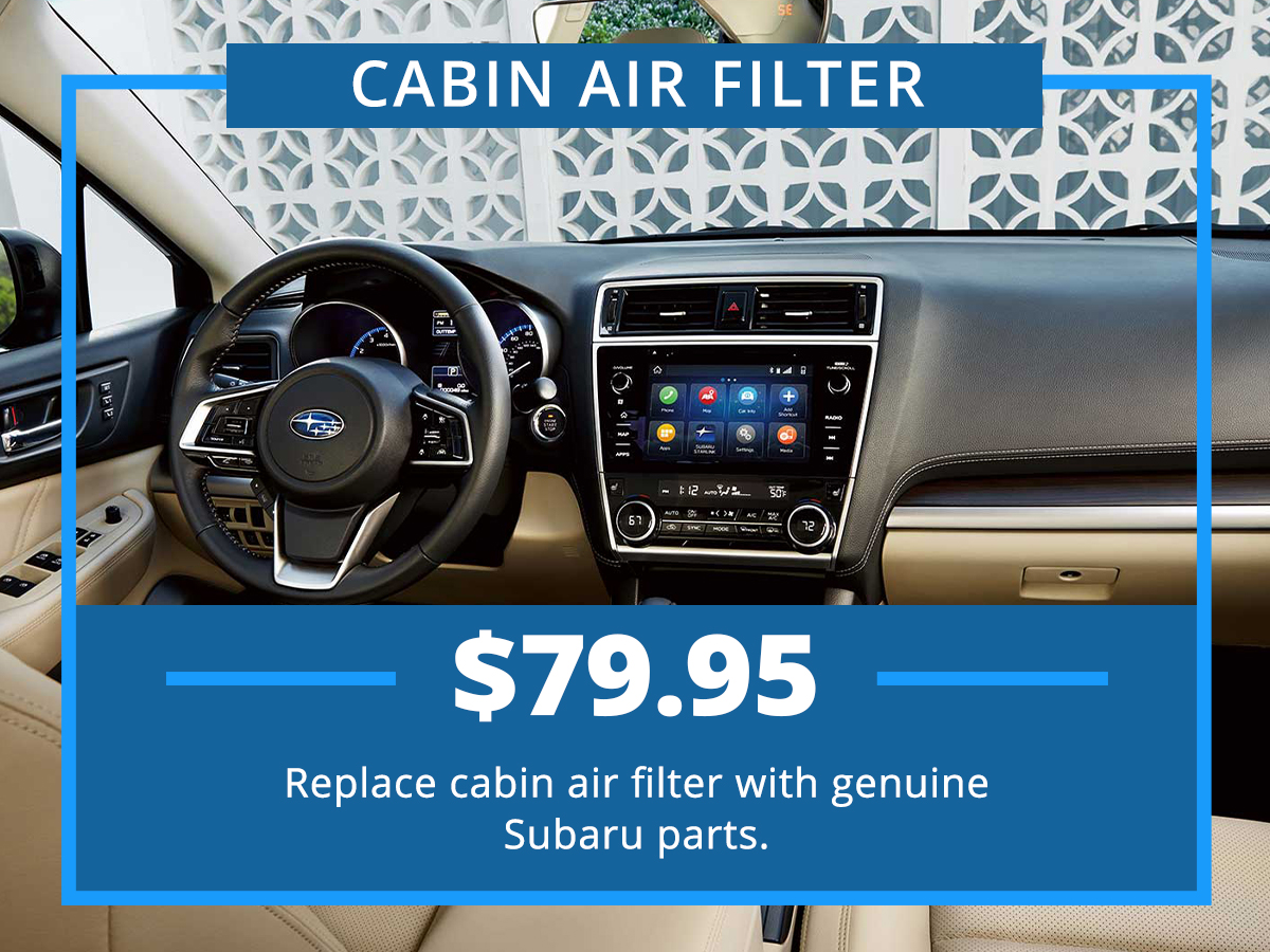 Cabin Air Filter Special Coupon