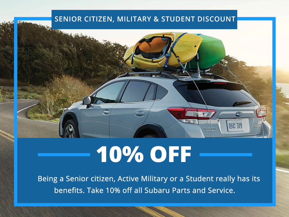Senior Citizen, Military & Student Discount Special Coupon