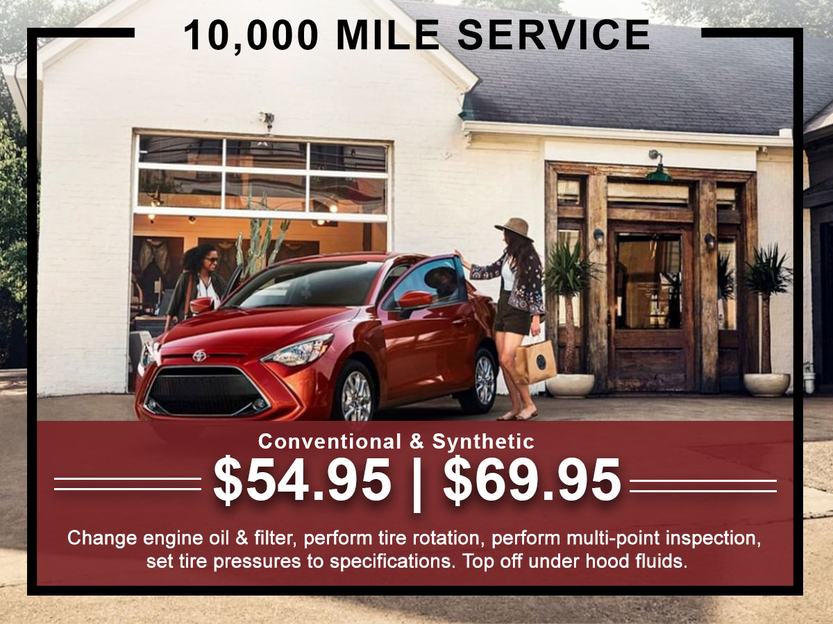 I-5 Toyota Service Specials Coupons 10K Mile Service in Chehalis, WA