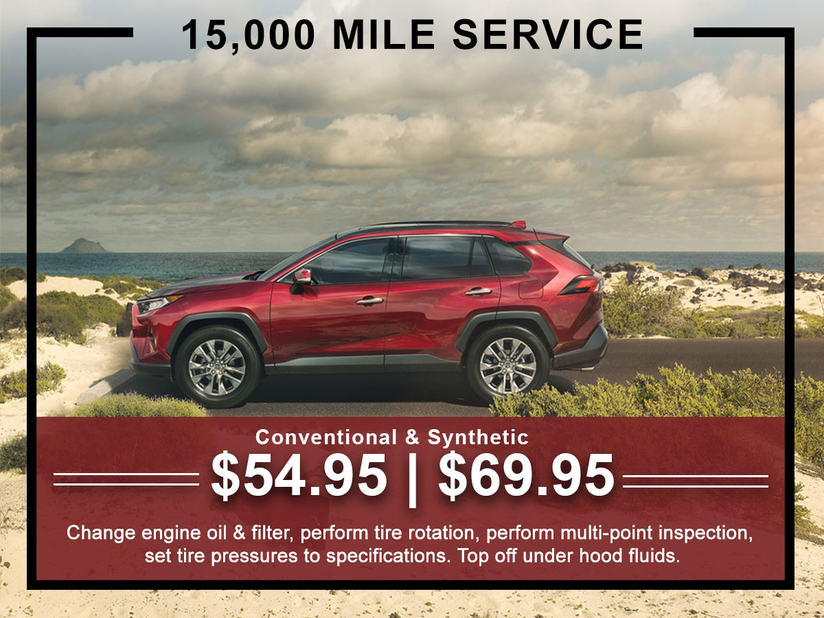 I-5 Toyota Service Specials Coupons 15K Mile Service in Chehalis, WA