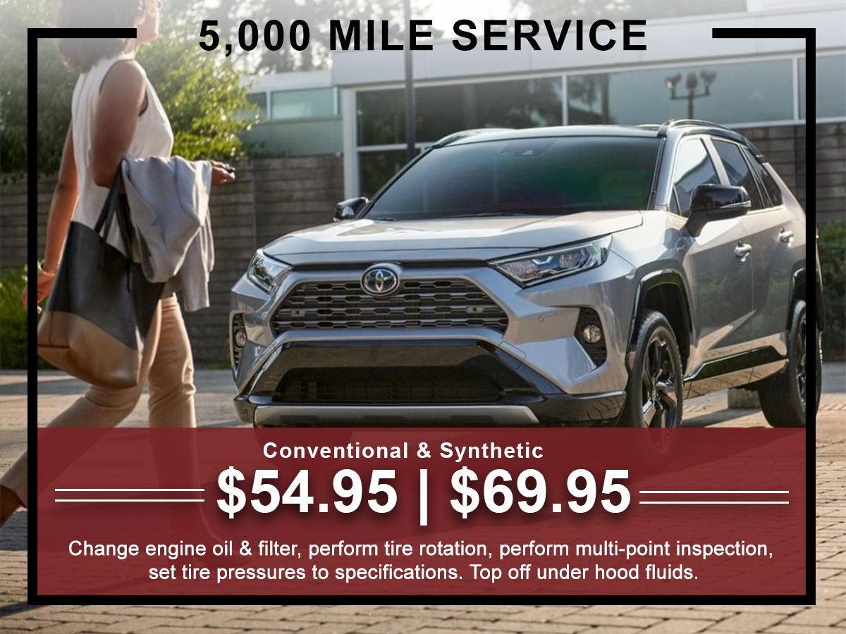 I-5 Toyota Service Specials Coupons 5K Mile Service in Chehalis, WA