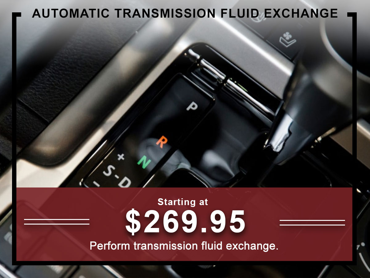I-5 Toyota Service Specials Coupons Automatic Transmission Fluid exchange Service in Chehalis, WA