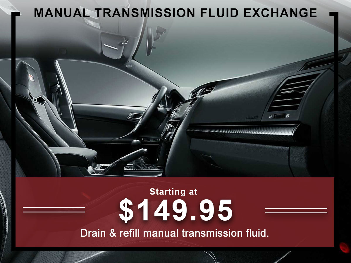 I-5 Toyota Service Specials Coupons Manual Transmission Fluid exchange Service in Chehalis, WA