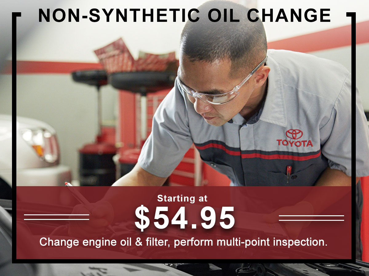 Conventional Oil Filter Change Service Special
