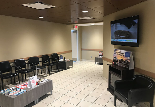 LaFontaine Toyota Waiting Area