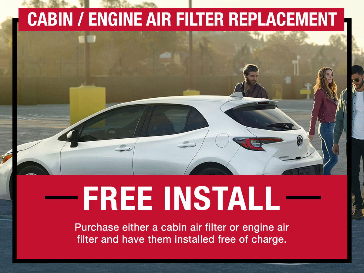 Cabin / Engine Air Filter Replacement Service Special LaFontaine Toyota Dearborn, MI
