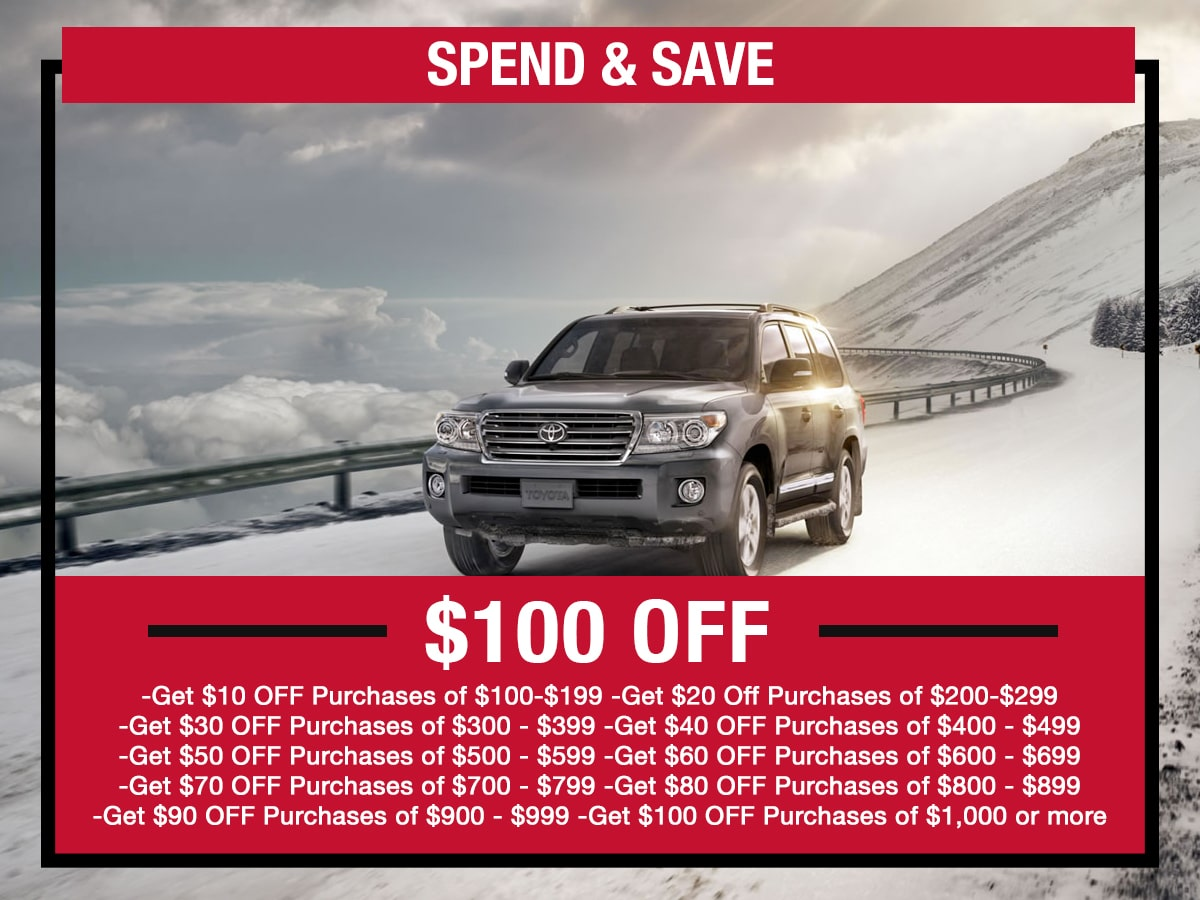 Spend & Save Service Special