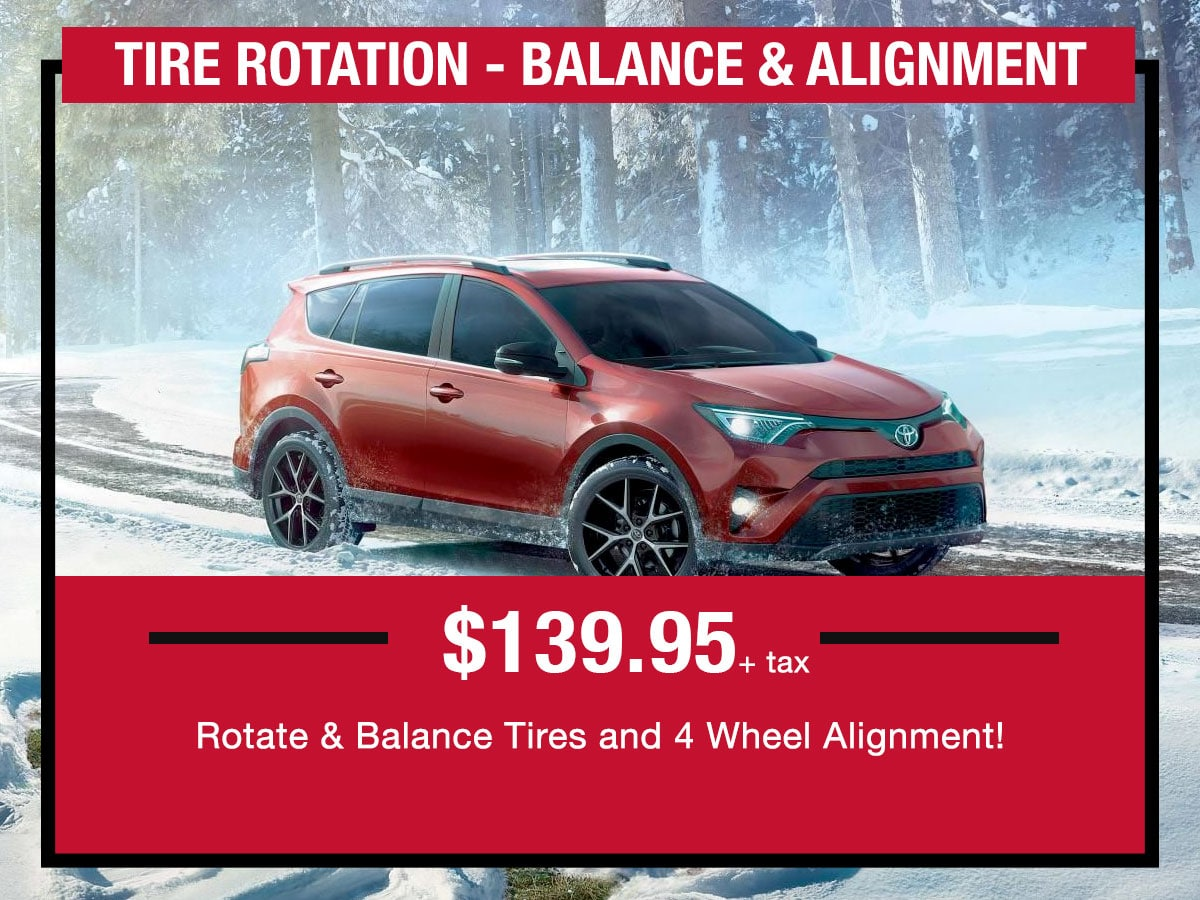 Tire Rotation Service Special Coupon LaFontaine toyota Dearborn, MI