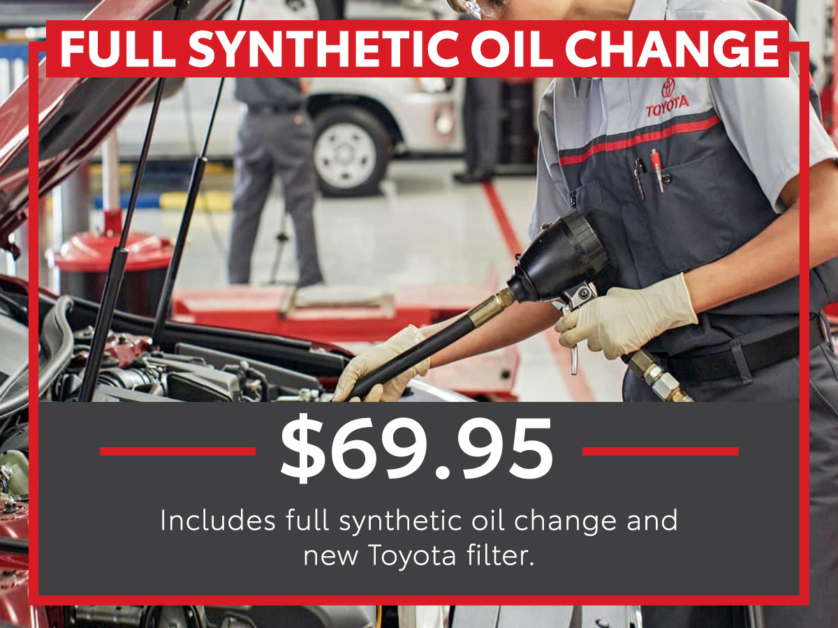 Tom Wood Toyota Full Synthetic Oil Change Service Coupon