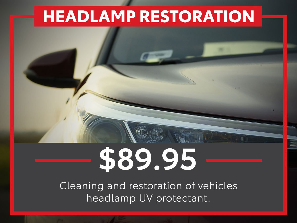 Headlamp Restoration Service Special Coupon