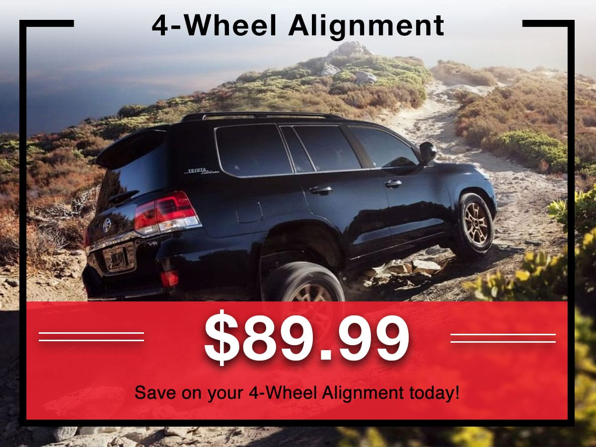 4-Wheel Alignment Special coupon | Toyota of New Orleans