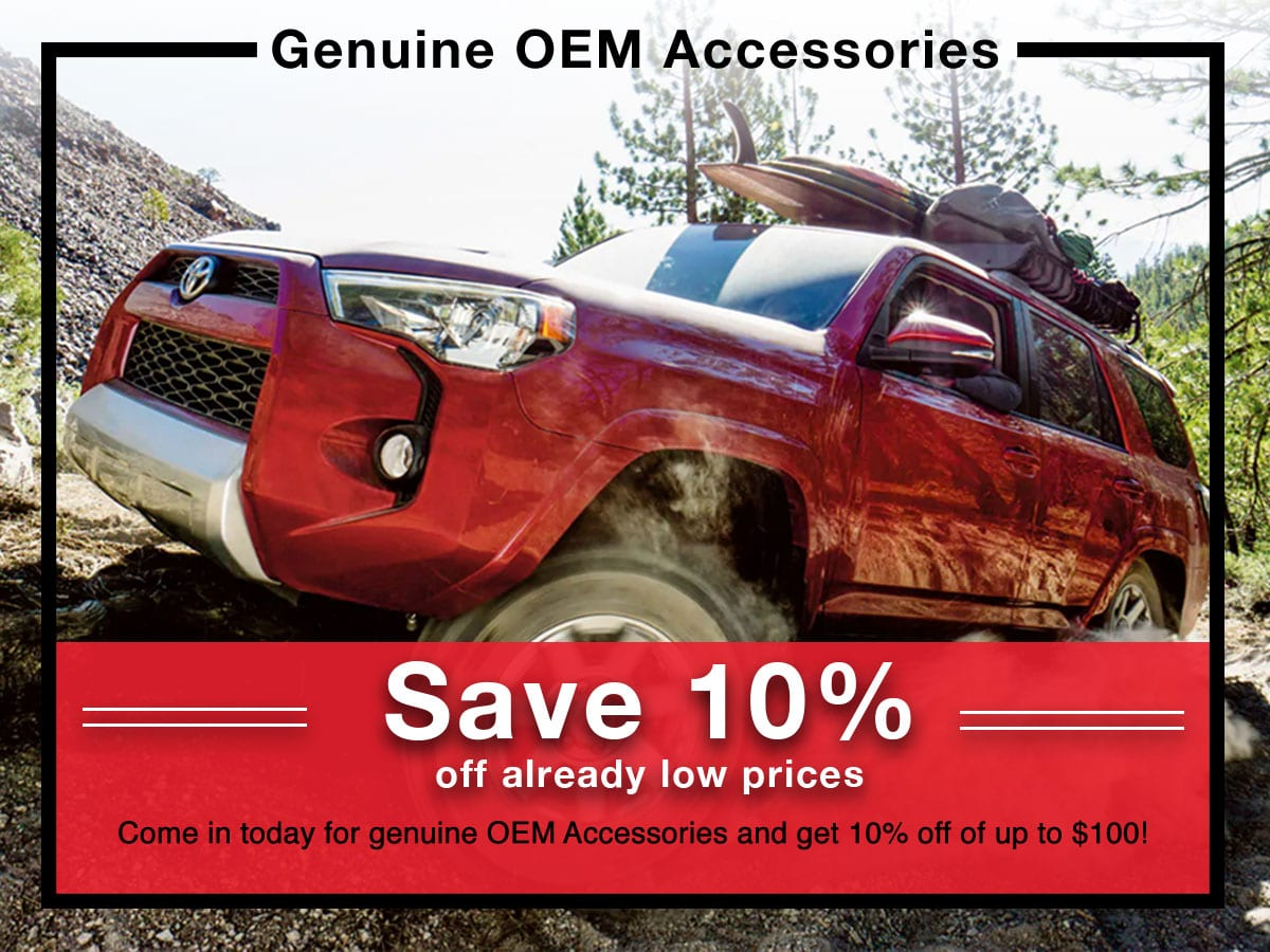 Geunine OEM Accessories coupon | Toyota of New Orleans