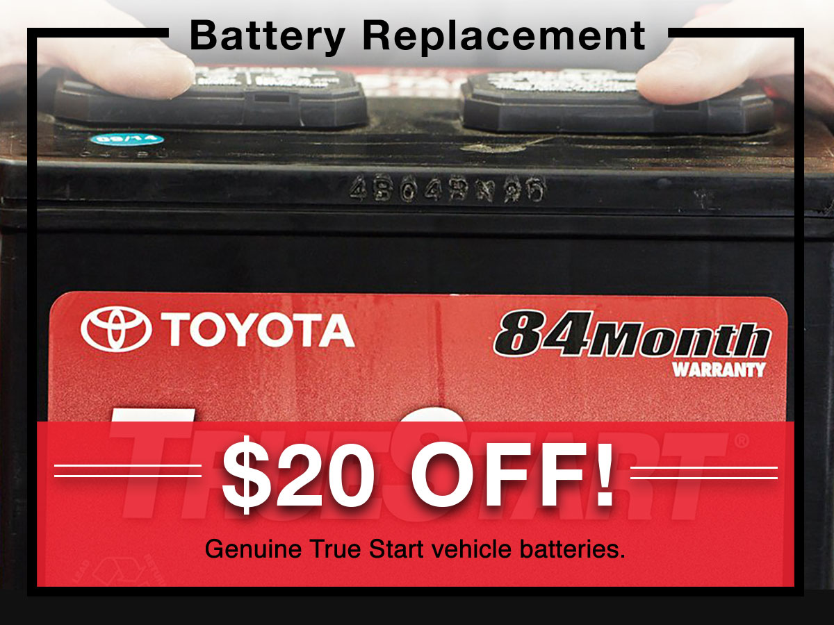 Battery Replacement coupon | Toyota of New Orleans