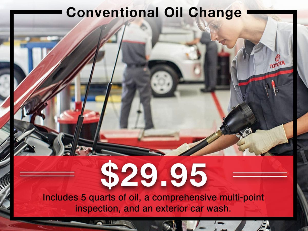 Conventional Oil Change service coupon | Toyota of New Orleans