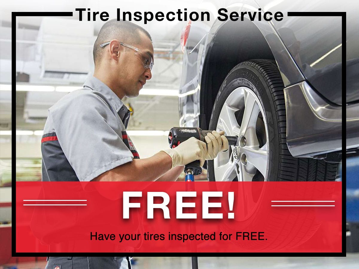 Tire Inspection Special coupon | Toyota of New Orleans