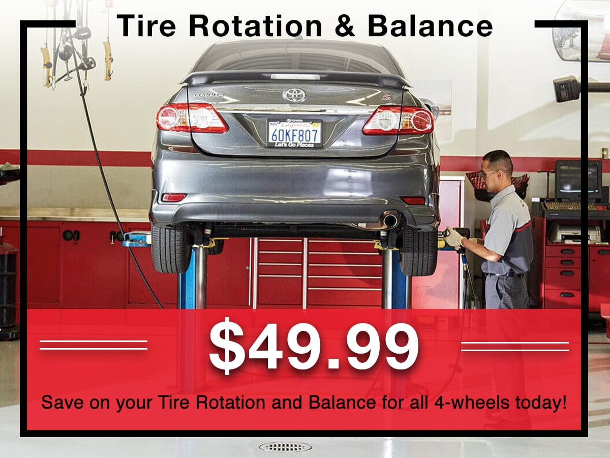 Tire Rotation & Balance coupon | Toyota of New Orleans