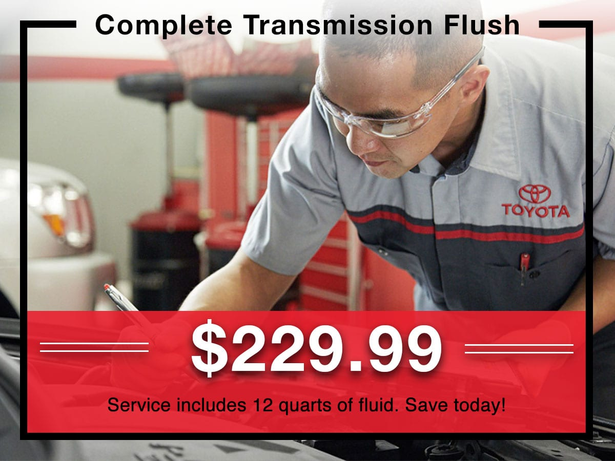 Complete Transmission Flush Special coupon | Toyota of New Orleans