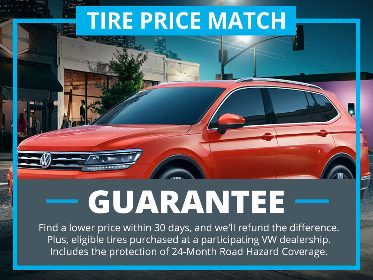 Tire Price Match Guarantee at VW of Inver Grove