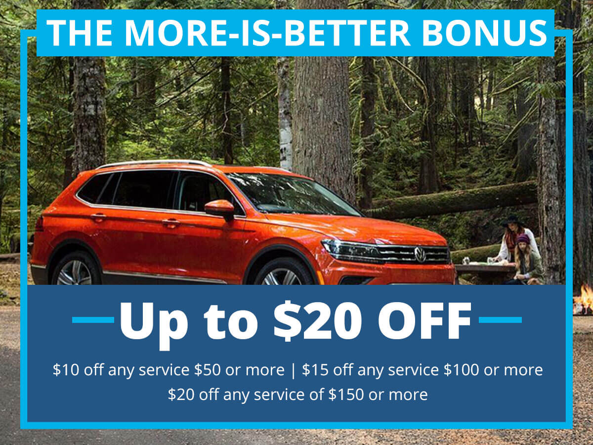 The More-Is-Better Bonus Special Coupon VW of Inver Grove Heights, MN