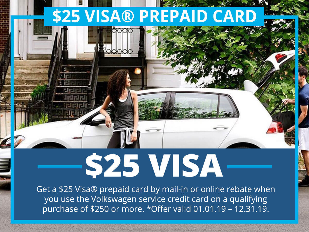 $25 Visa® Prepaid Card Special Coupon VW of Inver Grove Heights, MN