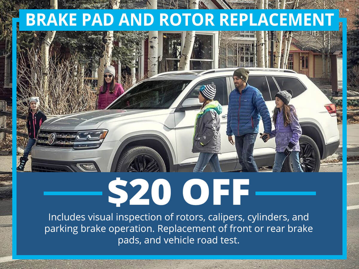 Brake Pad and Rotor Replacement Special Coupon VW of Inver Grove Heights, MN