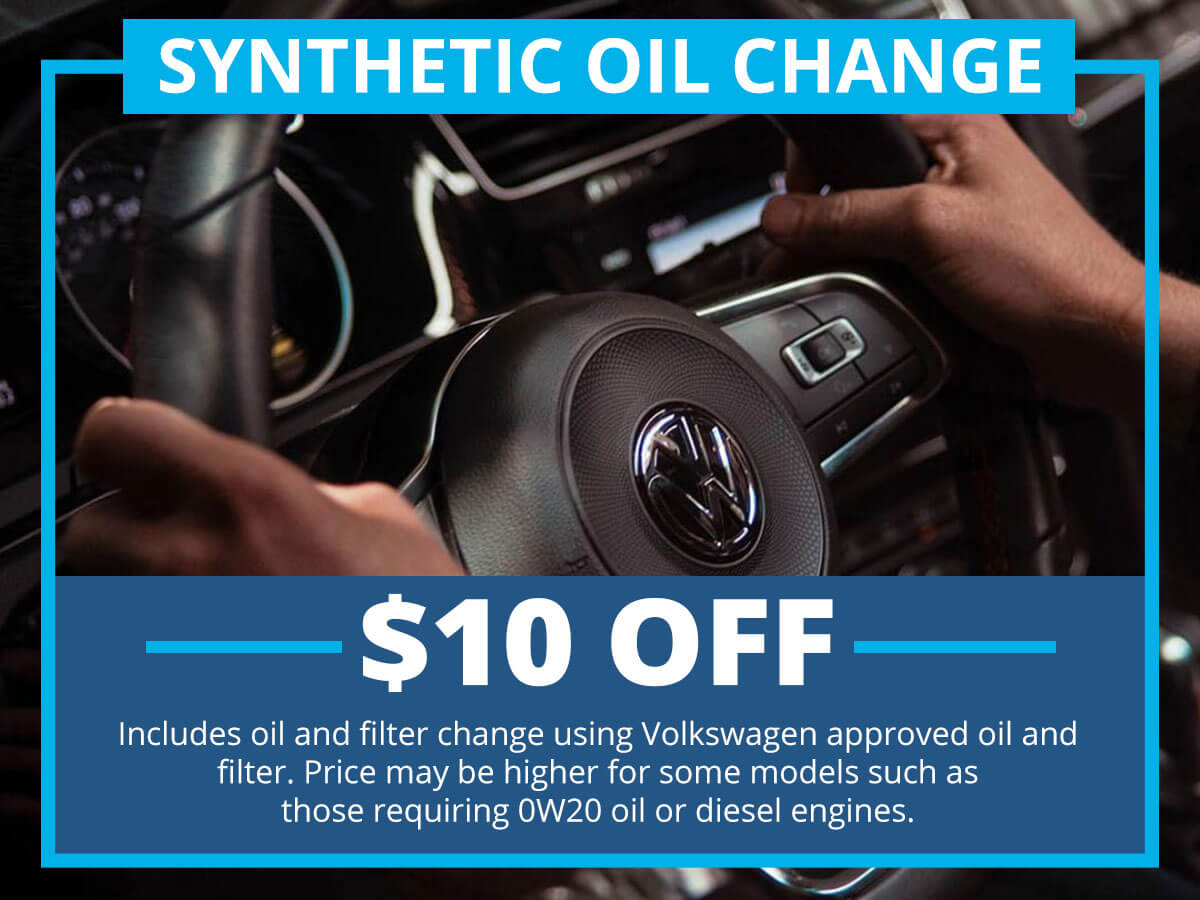 Synthetic Oil Change Service Special Coupon VW of Inver Grove Heights, MN
