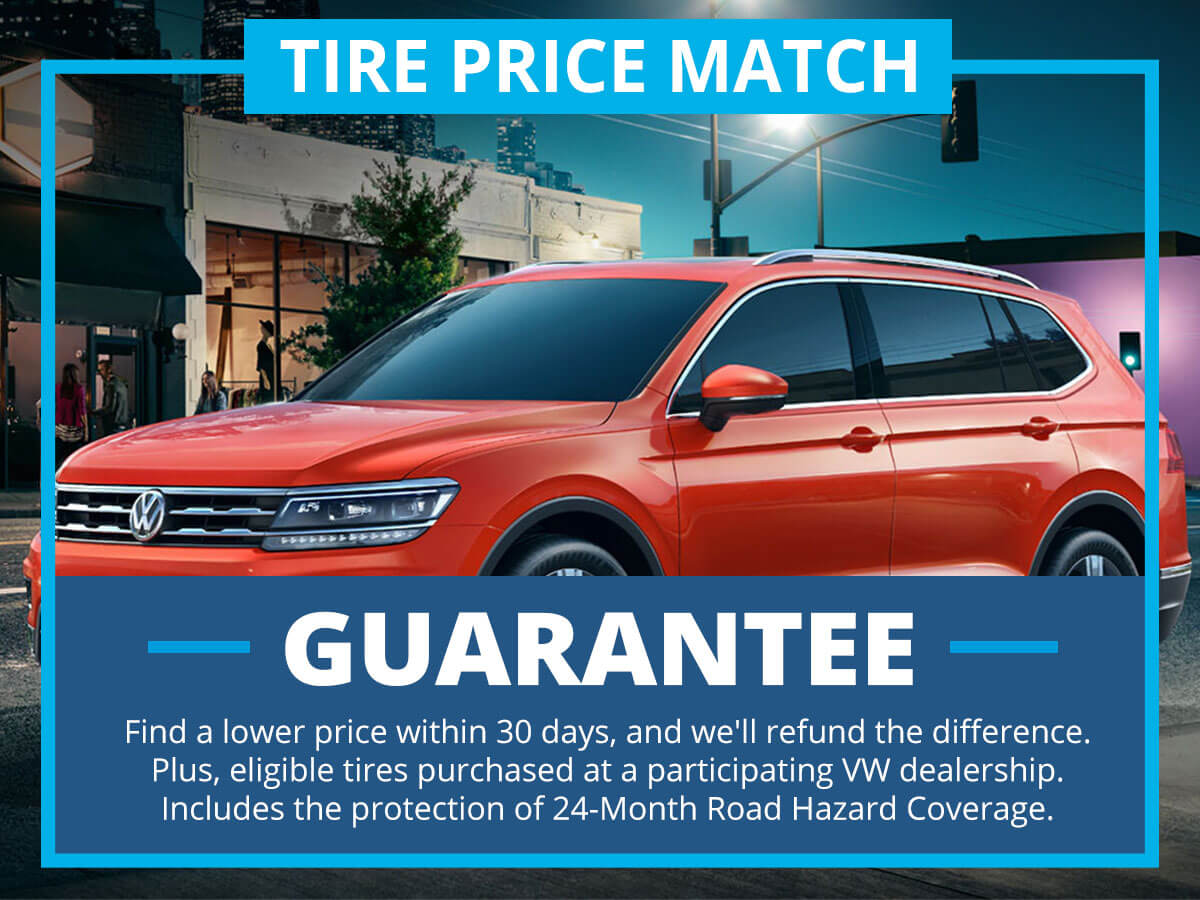 Tire Price Match Service Special Coupon VW of Inver Grove Heights, MN