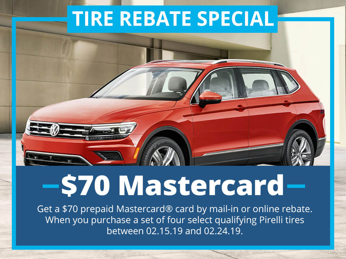 Tire Rebate Special Service Special Coupon VW of Inver Grove Heights, MN