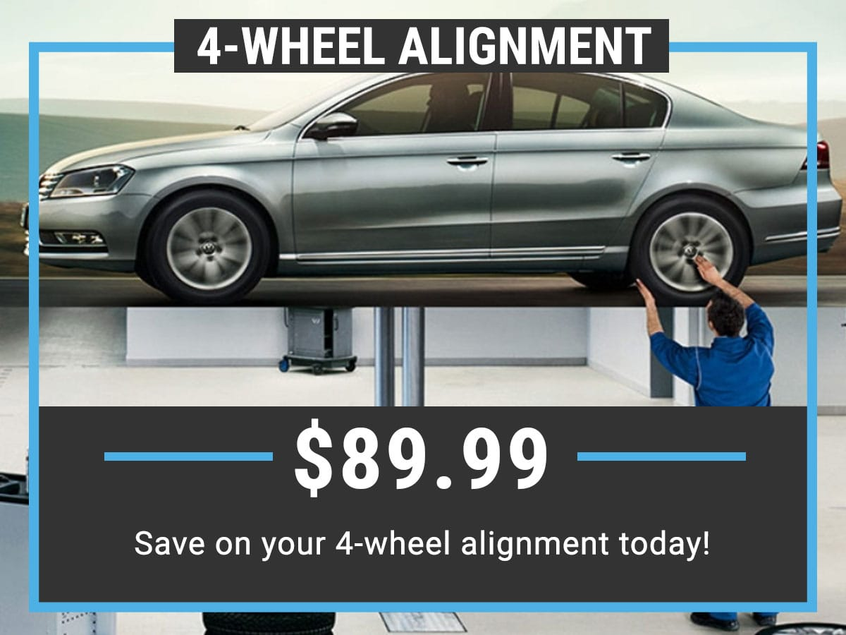Volkswagen Wheel Alignment Service Special Coupon