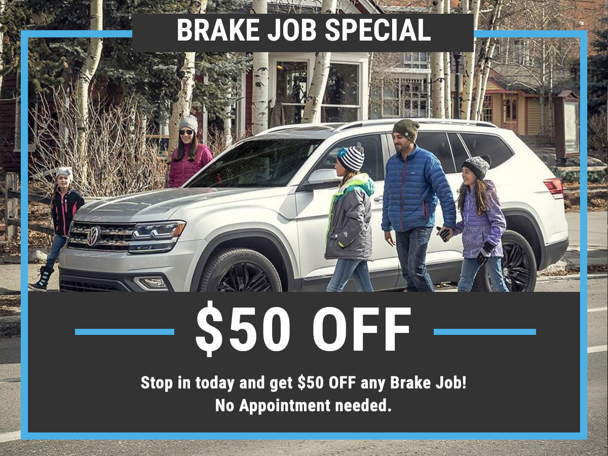 VW Brake Job Special Coupon