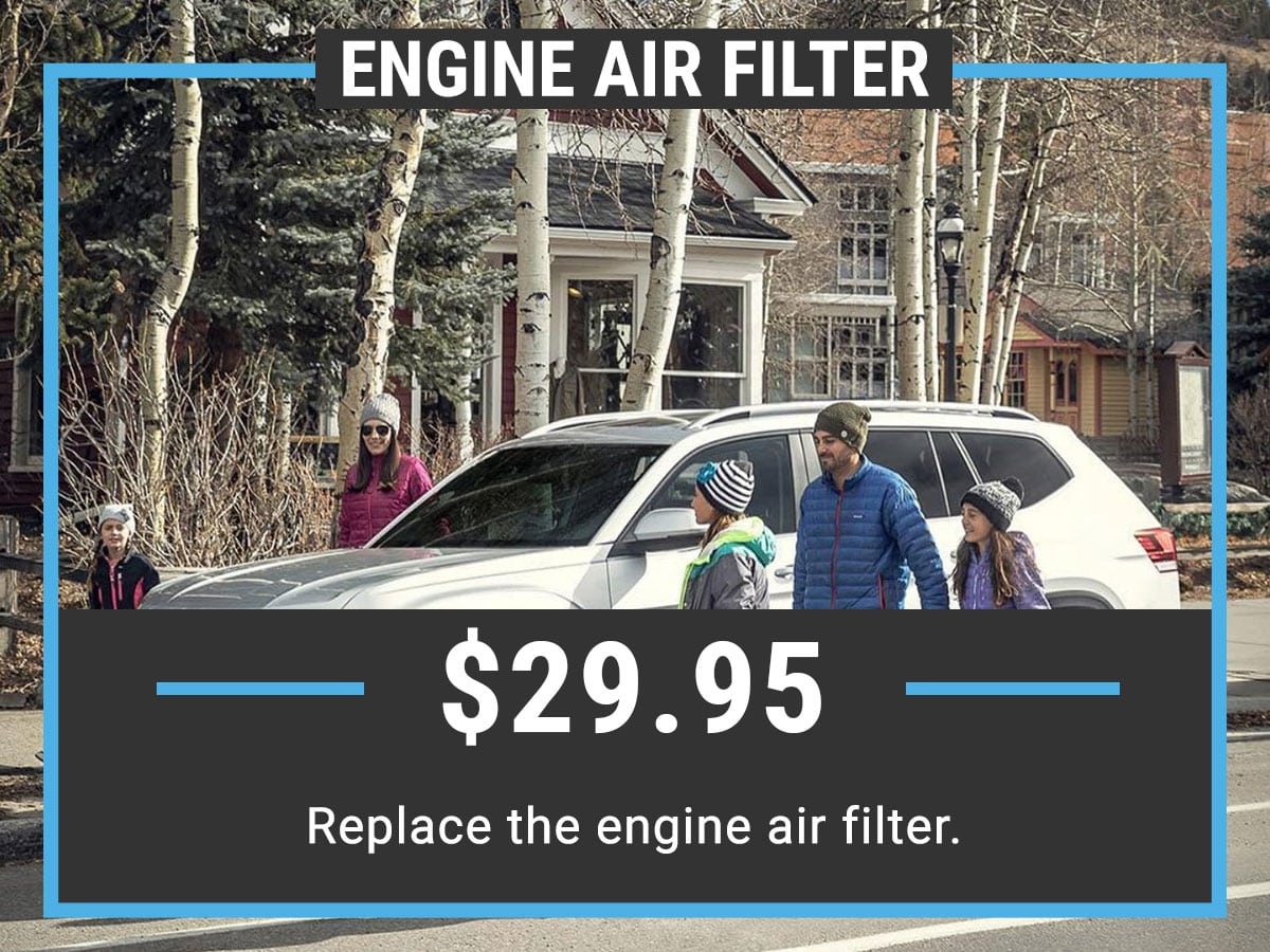 Volkswagen Engine Air Filter Service Special Coupon