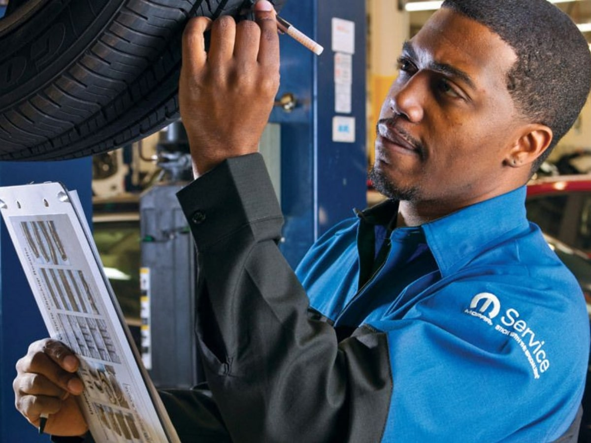 Mopar Tire Tread Pressure Check