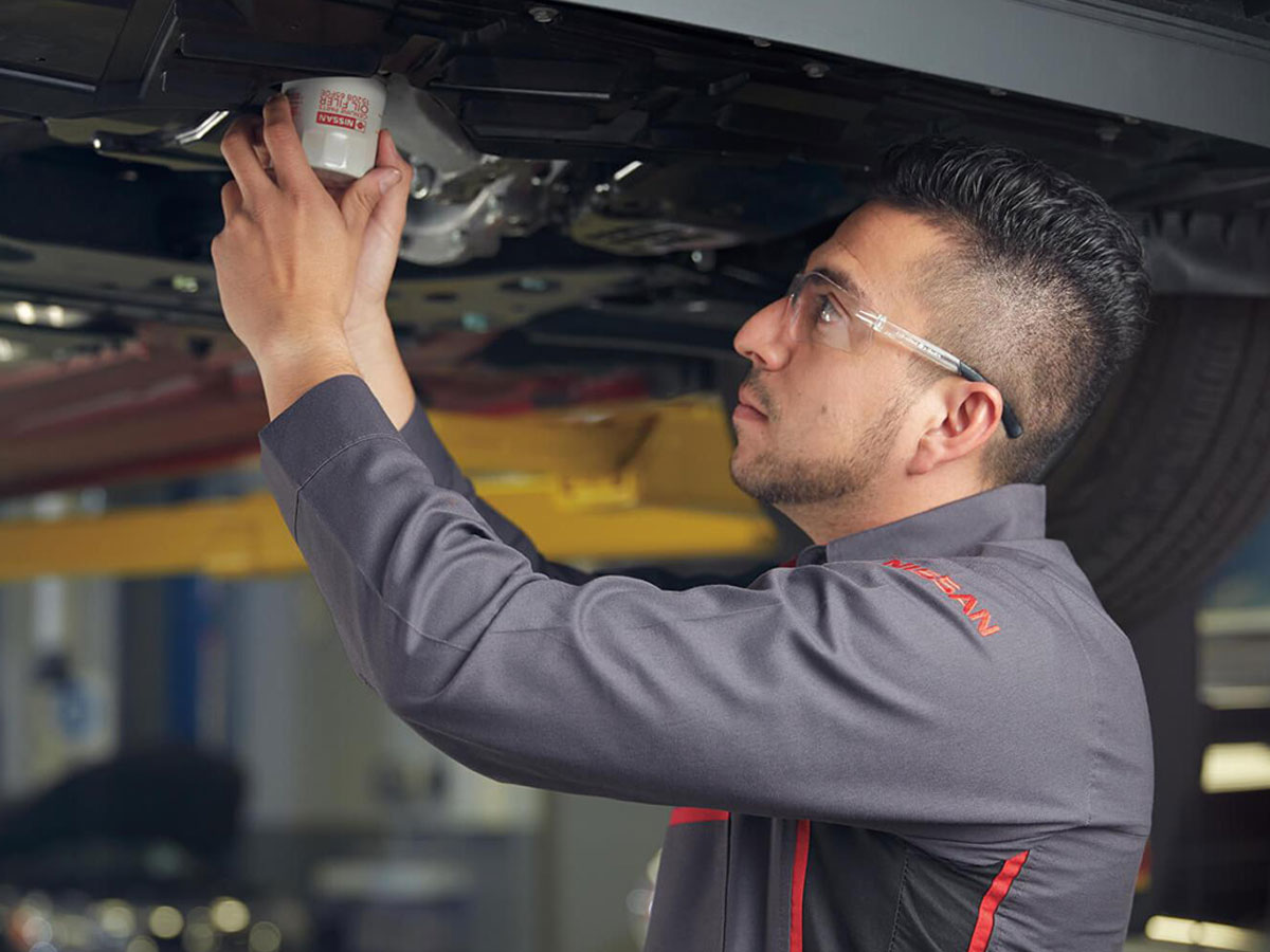 Nissan Conventional Oil Filter Change Tustin CA