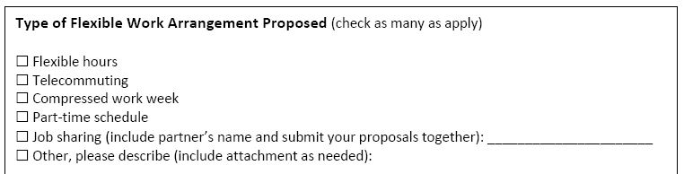 Creating An Easy, Useful Flexible Work Proposal Form - Flexjobs