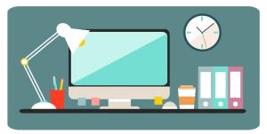 Employee desk, building virtual team trust through predictabilty