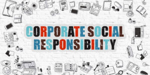 Sign for corporate social responsibility.