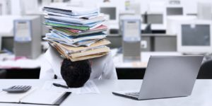One of the signs of employee overwhelm