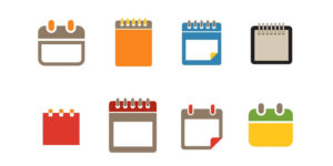 Symbols for how flexible schedules work