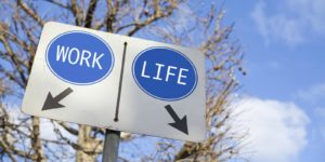 Sign to find work-life balance.