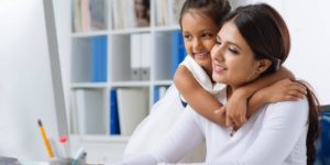 Flexible work advocates, a mother and daughter