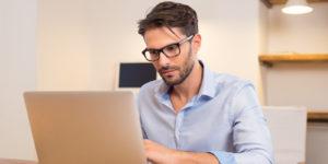 Employer preparing for a virtual job interview