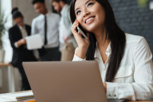 Woman hiring a remote employee for the first time
