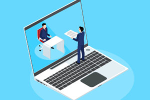 Man dealing with the challenges of a completely remote workforce