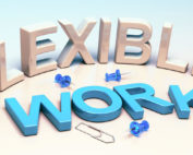 Flexible work sign to offer a flexible schedule