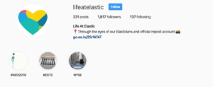 elastic instagram home