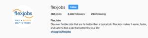 flexjobs instagram home