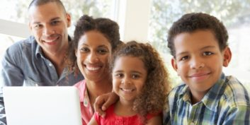 Work-at-home moms and dads discovering resources.