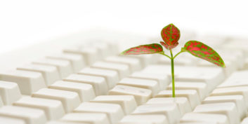 Flower in a keyboard, tips to go green